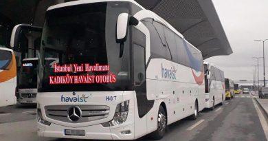 Kadıköy İstanbul Havalimanı Havaist Otobüsleri