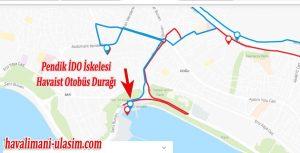 Pendik İDO iskelesi Havaist Havalimanı Otobüsü Durağı