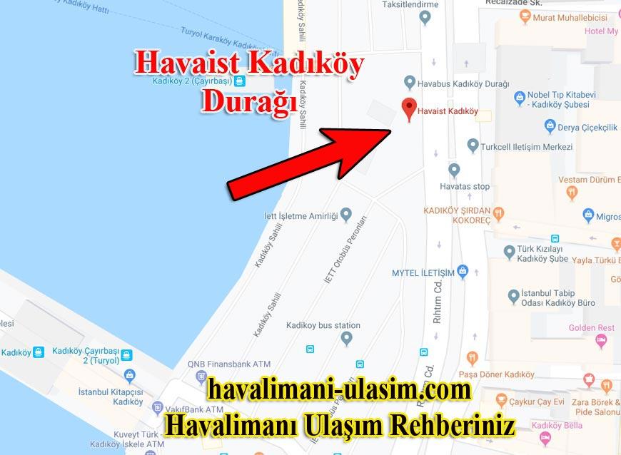 Havaist Kadıköy Durağı, Havaist Otobüsleri Kadıköy Sefer Saatleri