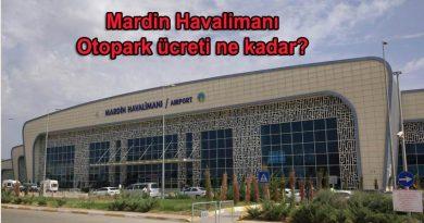 Mardin Havalimanı Otopark ve Mardin Havalimanı Otopark Ücreti
