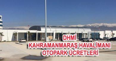 Kahramanmaraş Havalimanı Otopark Ücretleri