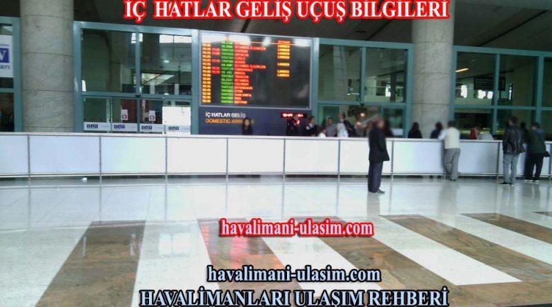 Ankara Esenboğa Havalimanı Dış Hatlar Geliş Uçuş Bilgileri