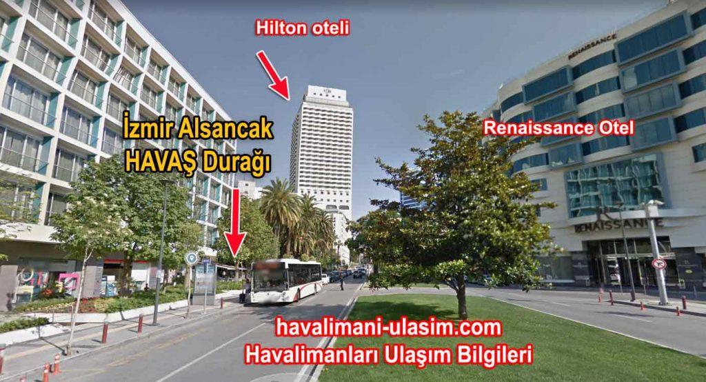 İzmir Alsancak Efes Oteli Havaş Durağı