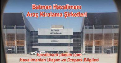 Batman Havalimanı Araç Kiralama / Rent A Car Şirketleri
